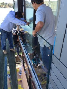 Structural Glass Railing Installation 3