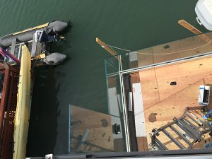 Structural Glass Railing Installation